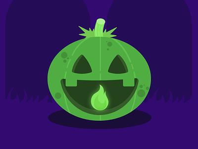 Jack-o'-lantern halloween vector flatdesign concept design illustration design