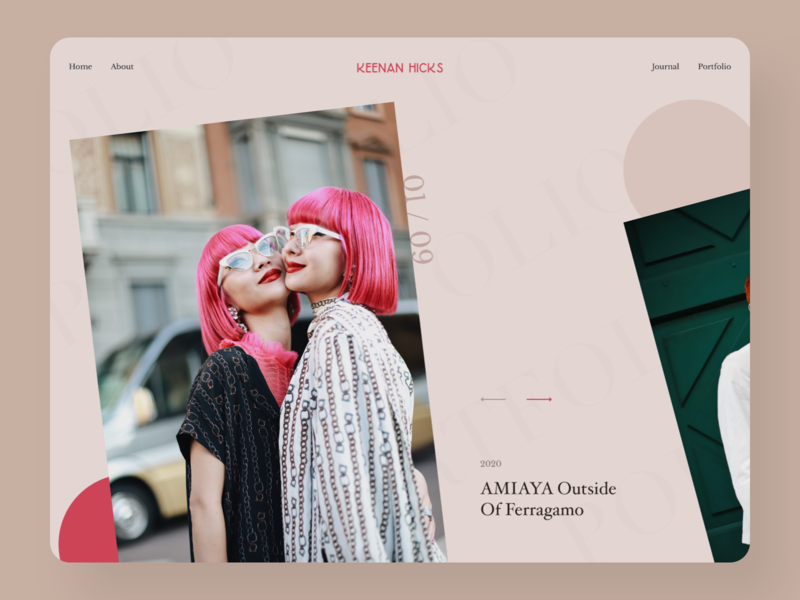 Fashion Portfolio Website Design portfolio website portfolio website uidesign fashion design clean big background images minimal