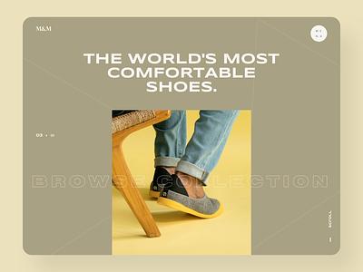 Shoes Website Design e-comerce minimalist clean uidesign shoes shop uiux ui website minimal