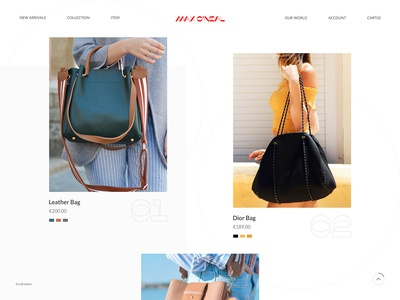 Luxury Bags Website Design