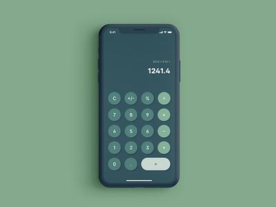 Daily UI 004 - Calculator design ui dailyuichallenge dailyui