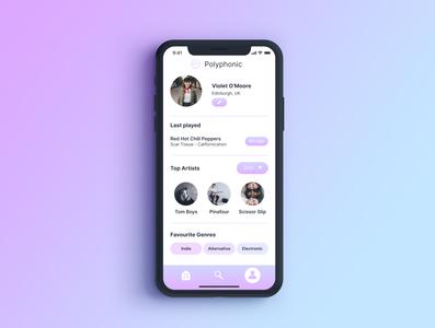 Daily UI 006 - User Profile app design ui dailyuichallenge dailyui