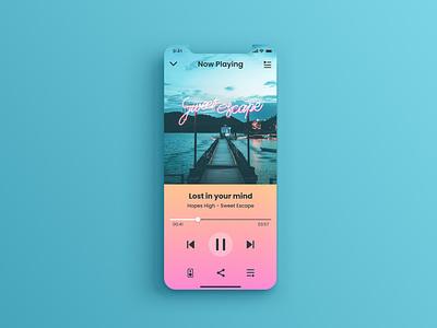 Daily UI 009 - Music Player music player music app gradient app design ui dailyuichallenge dailyui