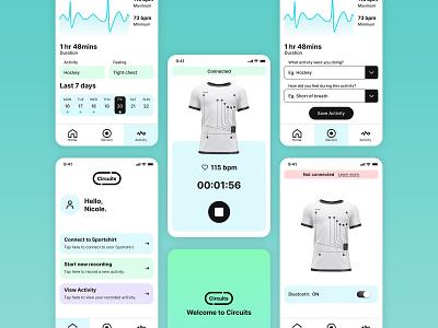 Circuits App recording monitoring dashboard medical design ui app