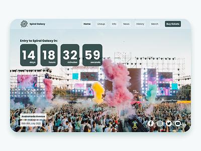 Daily UI 014 - Countdown Timer daily 100 challenge event website design website dailyui014 branding logo landingpage design ui dailyuichallenge dailyui