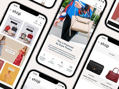 Style Theory Shop - Singapore website fashion landing page web ui design design ux ui