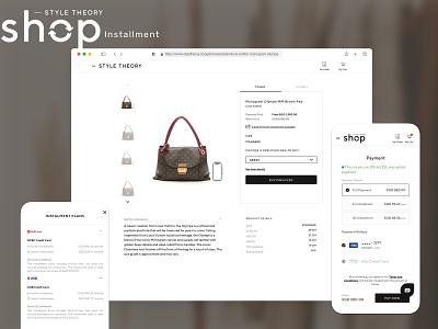 Style Theory Shop - Installment mobile fashion web ui design design ux ui