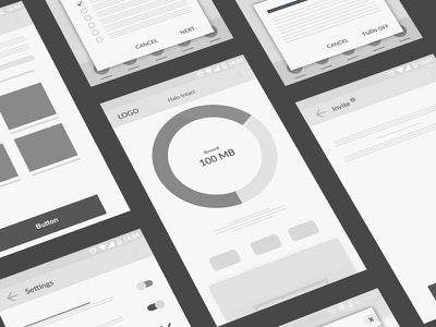 First, use wireframes. ui. app android wireframes
