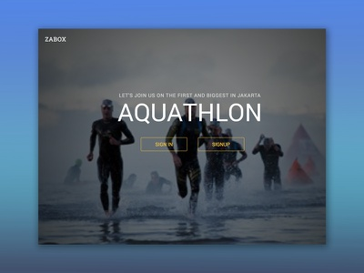 Zabox - Landing Page grey event sport website web design web user interface ui design ui landing page design