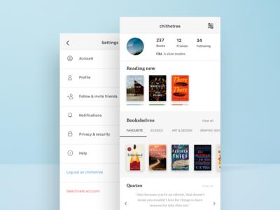 Goodreads iOS redesign