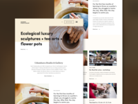 Landing page for a pottery studio