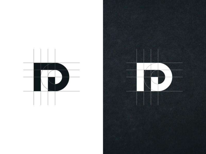 Dr MONOGRAM LOGO. clothing label apparel logo best logo awesome logo initial logo logogram grid flat minimal vector monogram logo monogram design monogram identity design branding logo