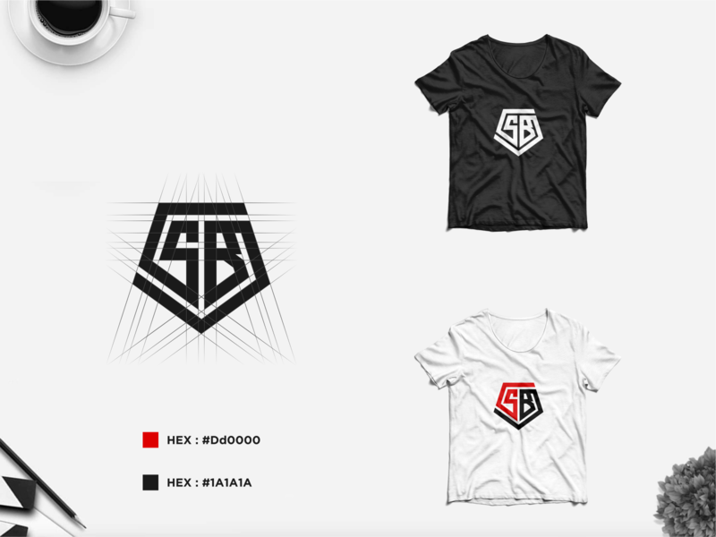 SB MONOGRAM LOGO best logo awesome logo clothing brand apparel logo sb monogram design monogram identity design branding logo