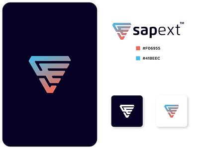 SAPECT texas best logo awesome logo europe asia german spain belgium italy america logotype tech logo tech design monogram logo monogram design monogram identity branding logo
