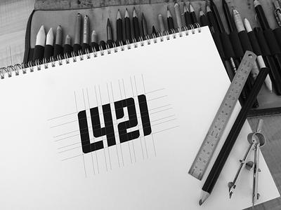 L421 initial logo logoproject forsale logodaily logodesigns logoprocess sketch logodesign logotype logos flat minimal vector design monogram logo monogram design monogram identity branding logo