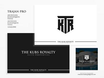 THE KUBS ROYALTY realestate realty management identity branding logo