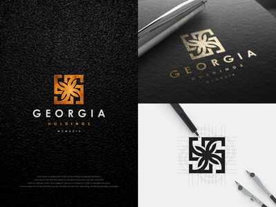 GEORGIA HOLDINGS agency luxury branding luxury design luxury logo design logotype america georgia holdings luxury logo flat minimal vector design monogram logo monogram design monogram identity branding logo