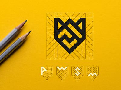 AWSM LOGO DESIGN minimalist logo modern logo best logo logoprocess grid logo awesome design awesome creative logos awesome logo awesome minimal vector design monogram logo monogram design monogram identity branding logo