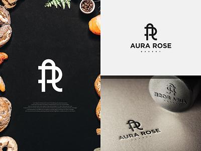 AR Logo concept for AURA ROSE BAKERY. art bakery logo bakery logobranding designlogo logodesign logotype type vector minimal monogram logo monogram design branding design identity monogram logo