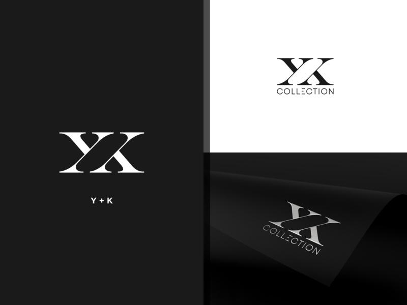 YK COLLECTION LOGO CONCEPT. luxury brand luxury logo fashionlogo logodesign logotype design collection logotype type minimal vector monogram logo monogram design monogram branding design identity logo