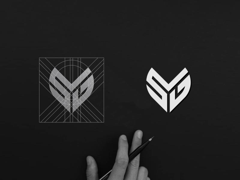 SYG Monogram Vol 2 logoprocess best design bestlogo heart logo logos logo design logoawesome logodesign logotype flat minimal vector monogram logo monogram design branding design identity monogram logo