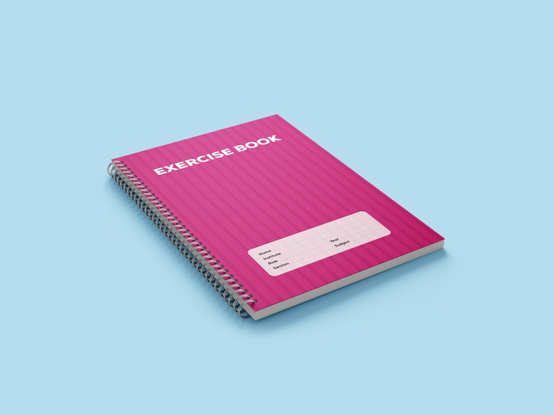 Exercise Book | Corporate Gift students book pink pink stripe pink stripe khata exercise book book