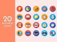 Business Icons (Flat Style)