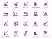 Set of Fintech icons