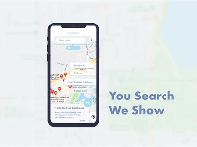 Food Store Locator - Location Tracker (Daily Ui #020)