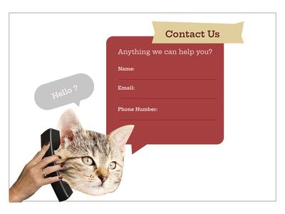 Hello? (Daily ui #28 - Contact us)