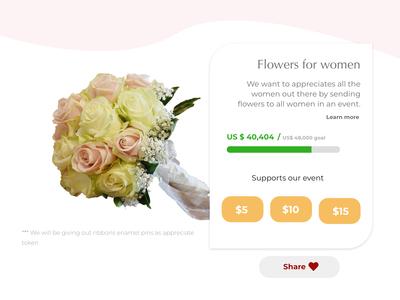 CrowdFunding - Send Flowers to women