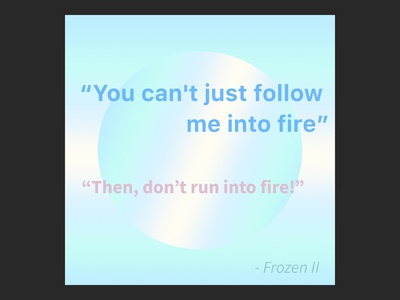 Frozen 2 trailer quote