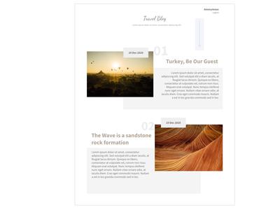 Blog Post - Travel blog ( Daily ui #35)