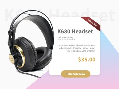 Special Offer - Headset ( Daily ui #36)