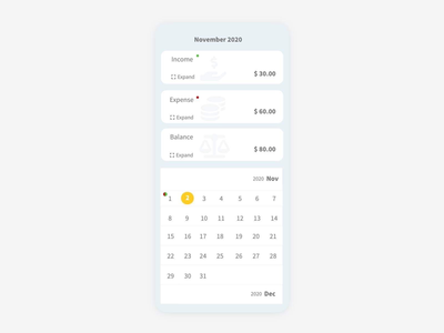Expense Manager - ( Daily ui #39)