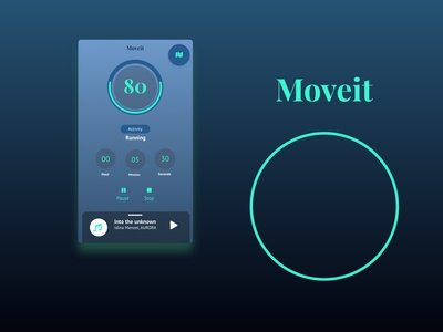 moveit - Workout Tracker ( Daily Ui #41)
