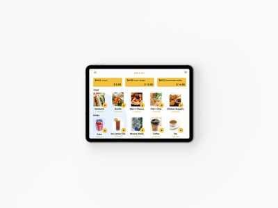 Ipad Menu - Food & Drinks (Daily UI #043)