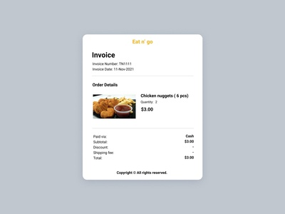 Invoice - daily ui #46