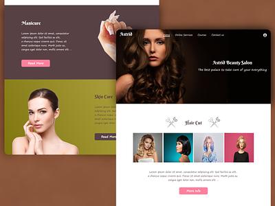 Simple Hair salon Webpage freepik designer design hairdresser hair salon photoshop website web website design web design webdesign
