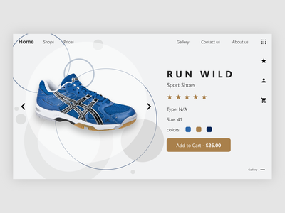 Sport Shoes Product Page modern design shoe shop shop web design shoe product ui design ux ux design website design website web design webdesign web designer design ui