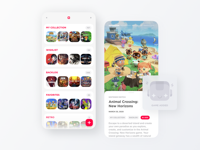 Mobile App Concept — Video games organiser