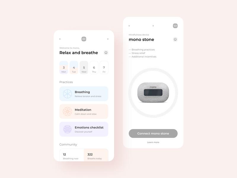 Mobile App Concept — Mindfulness App