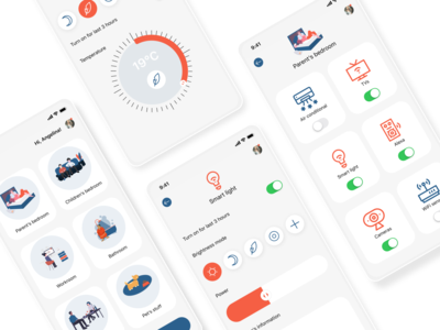 Smart Home app minimalism clean design smart smart home smarthome iot concept design concept mobile app light theme mobile app design ui mobile design