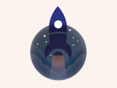 Rocket illustration rocket stars