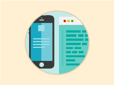 Mobile Development  development browser illustration mobile vector