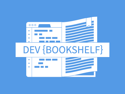 Dev Bookshelf  logo vector illustration code developer browser book blue