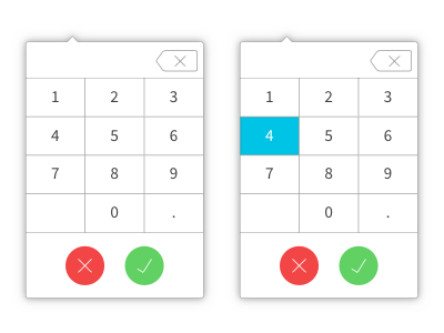 Calculator Input widget calculator