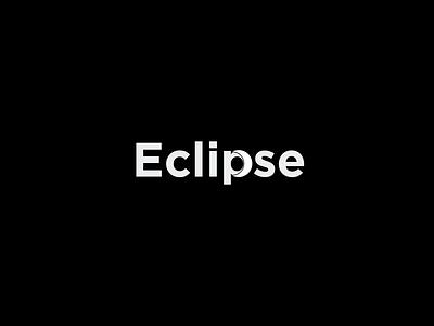 Eclipse eclipse logo eclipse logo lettering letter branding ai flat illustrator vector design logo design icon logo sun moon