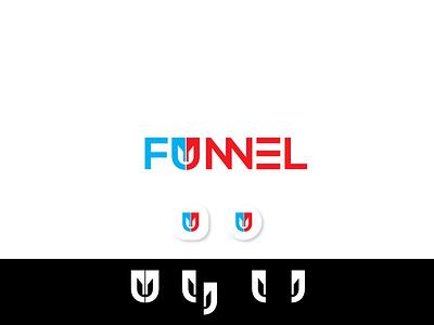 Funnel logo design logomark logo designs logodesign funnel logo design funnel logo design u logo branding ai letter ui flat illustrator vector design logo design icon logo