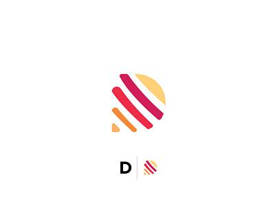 minimalistic D logo design company latter flat illustrator vector design logo design icon logo simple logo modern minimalistic logo letters lettermark lettering